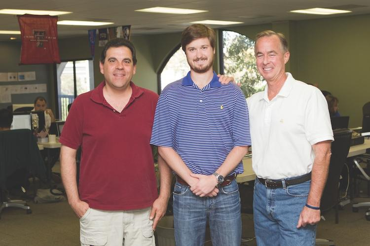 From left, Lou Scalpati, Sean Brindley and CEO Donald Hackett of Patient Conversation Media Inc.