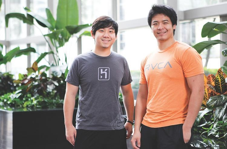Kevin Tang, left, and Eric Yang are behind the startup PhotoWhoa.