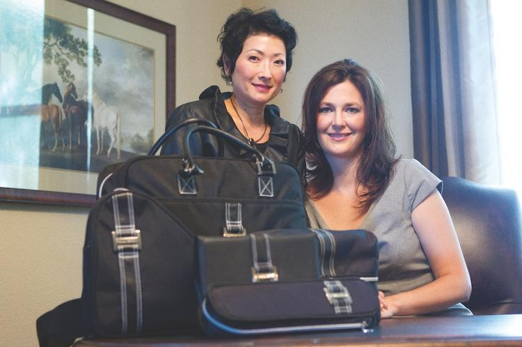 Judy Seonkyung Im, left, and Polly Shrewsbury have blended their combined knowledge of hair care equipment, business travel needs and marketing to launch Pollyseon LLC.
