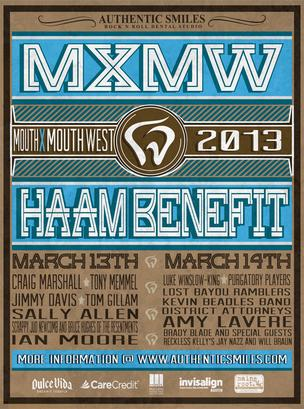 Mouth By Mouthwest benefits the Health Alliance for Austin Musicians.