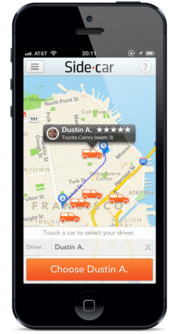 SideCar's ride-sharing application