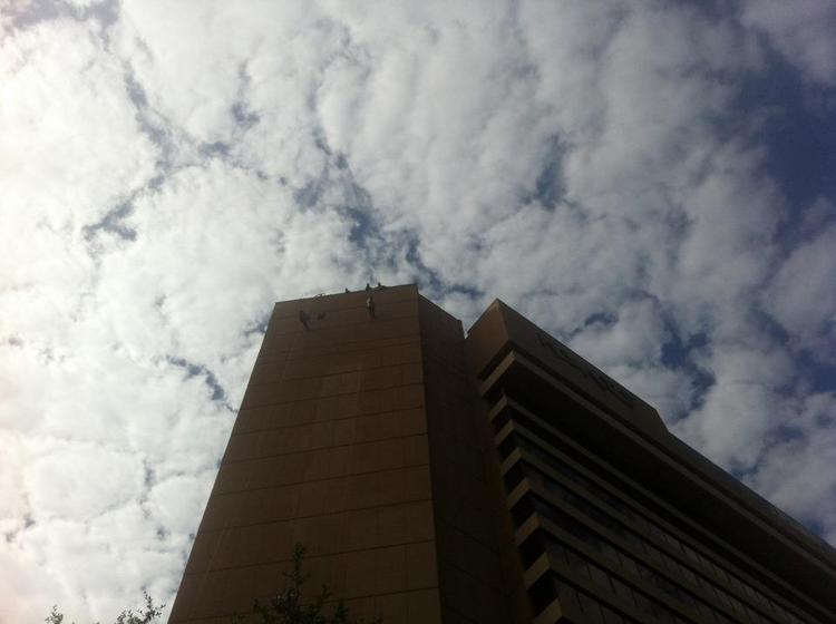 Supporters of Special Olympics of Texas rappelled 18 stories to raise money and awareness for the nonprofit.