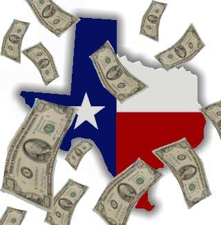 Total personal income in Texas grew 71 percent in the past 10 years.