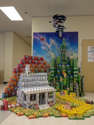 "Team MunchCANS used 1,000 cans to build winning entry ""We're not in CANsas anymore."""