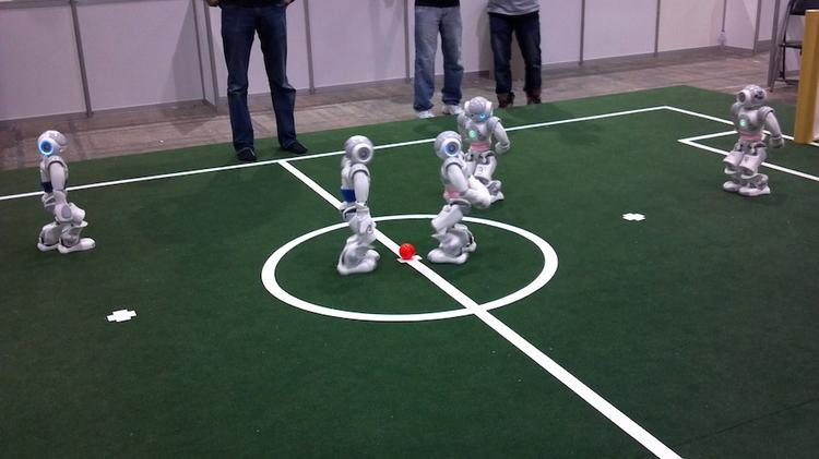 The team of robots led by University of Texas computer scientists took home two championships during the RoboCup 2012.