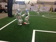RoboCup teams consist of humanoid Nao robots, which are programmed by students to think and play the game, UT officials said.