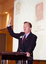 Joe Krier, a longtime economic leader from San Antonio, served as the master of ceremonies.