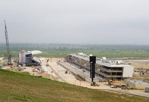 Construction is on schedule at the race track east of Austin. Take an inside look at the progress.