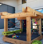 Practice Design Group is opting for a whimsical and stimulating play area for its doghouse this year.