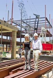 Rachel Knox (left) and Kevin Hunter, both with HTH Capital Ltd.