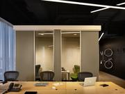 Dachis Group's new interiors feature private call booths for employees, as well as custom bike racks.