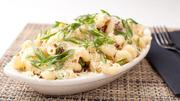 The menu for the dine-in experience includes contemporary comfort food like cavatappi and cheese.