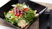 The Galaxy Moviehouse & Eatery also offers more gourmet dining options like green curry shrimp salad.