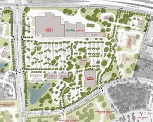 The Lakeline Market site plan preserves nearly 70 trees that are protected by the city's Heritage Tree Ordinance.
