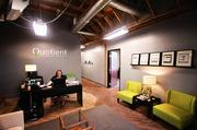 Quotient Solutions Inc. is a tenant at Penn Field and will be expanding its space by 2,000 square feet. CEO John Curtis wants to maintain the 50-year-old floors with the trendy exposed ceiling look. He's hired Sixthriver Architects, also based in Penn Field, to design the tenant improvements.