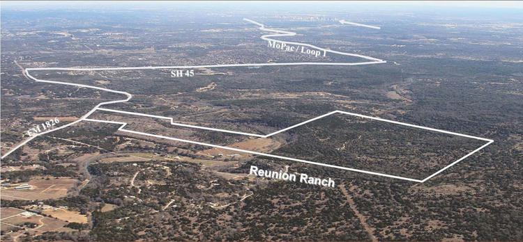 National homebuilder Taylor Morrison purchased 472 acres of high-profile Reunion Ranch in Dripping Springs. The subdivision totals 524 acres.