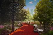 "Turenscape and Lake | Flato Architects conceive of a pedestrian pathway called ""Cypress Walk."""