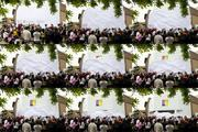 A sequence of photos showing the reveal of the Microsoft store.