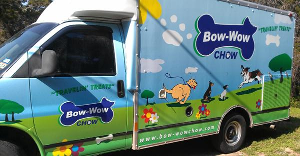 The local food truck scene isn't just for humans anymore. Bow-Wow Chow now caters to canine clientele.