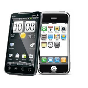 Sales of smart phones using Google Inc.'s Android operating system outpaced sales of Apple Inc.'s popular iPhone.