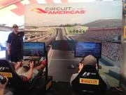 """Codemaster's """"F1 2012"""" video game offers players virtual rides around the COTA racetrack."""