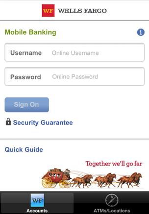 Wells Fargo mobile application