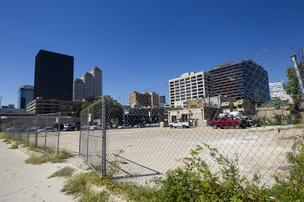 A hotel about as big as the Four Seasons is planned for this site on West Fifth Street.