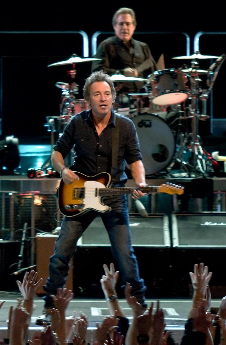Bruce Springsteen and the E Street Band played recently at the KFC Yum! Center in Louisville. This photo was taken at an earlier concert in Austin, Texas.