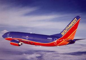 Southwest Airlines Co. reported a 2.1 percent drop in passenger traffic for April, while revenue per passenger was up 7 to 8 percent.
