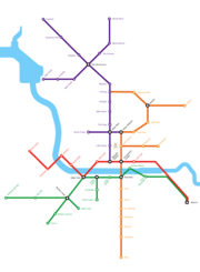 The system could be built in phases, gradually expanding from a central hub along Congress Avenue.