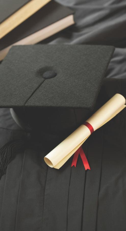 Herff Jones manufactures graduation-related items such as yearbooks, class rings and caps and gowns.