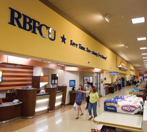 Randolph-Brooks Federal Credit Union's new branch location in Randalls in Austin.