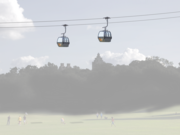 An overhead system would allow gondolas to traverse the Barton Creek greenbelt and other natural barriers withoutdisturbingthem.