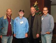 """Mobile Loaves & Fishes founder Alan Graham (in hat) was the latest guest to speak to members of the Metropolitan Breakfast Club. His presentation was titled """"Providing Uncompromising Love and Hospitality to Those in Need."""""""