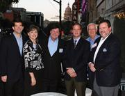 At the most recent Association for Corporate Growth meeting are (from left) Peter Huff of Blue Sage, Donna Sphar of CSI Executive Search, Brian Smith of BDO, Kenneth Womack from Triad Boiler Systems, Jerry Sullivan and Don Neville of Field Asset Services.