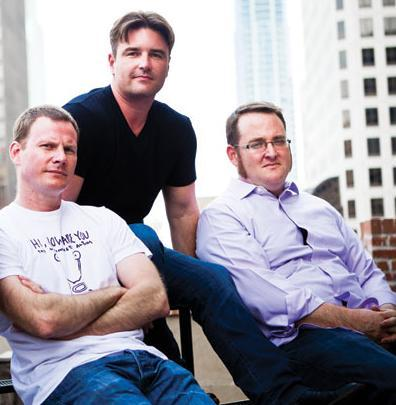 From left, Robert Reeves, Daniel Nelson and Pete Pickerill are the founders of Datical Inc.