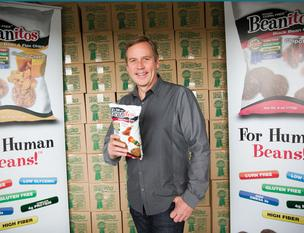 Doug Foreman's company makes healthy tortilla-looking chips in California but wants to move production here. It could mean more than 100 new jobs.