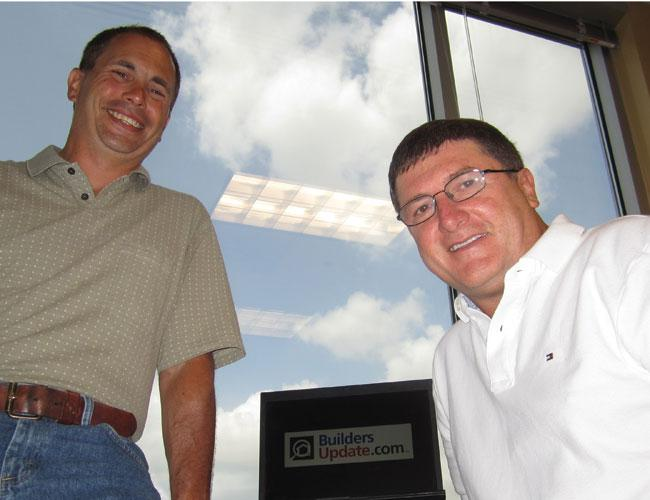 Bill Gaul, right, and Lee Goldstein hope to have the entire U.S. inventory of new homes on BuildersUpdate.com by mid-2013.