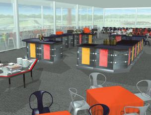 The suites aren't finished yet, but this rendering shows what kind of room high rollers can expect when they arrive.