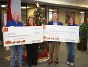 Wells Fargo and Chuy's kicked off Operation Blue Santa's donation drive by each providing a $2,500 grant. Corporations and residents are encouraged to provide cash donations to the Operation Blue Santa account at any Wells Fargo branch.