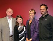 From left: Alan Goldsberry, Olga Pechnenko, Cindy Goldsberry and Dustin Wells hang out after a recent EO luncheon. Goldsberry spoke to members about her sales expertise.