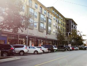 Apartment living above stores at The Domain has proven popular.