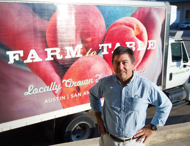 John Lash said business is booming for his niche produce delivery business. It used to be just him and his son. Now they employ eight others in South Austin.