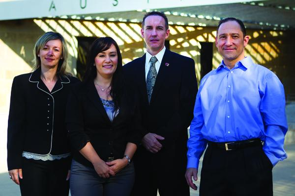From left, Cobé Dunn, Justine Fontaine, Chris Mire and Wayne Orchid are behind the growth at Freeit Data Solutions Inc.
