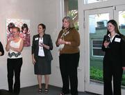 "Representatives from Graves Dougherty, AMD and Harden Healthcare hosted guests at the Wally Workman Gallery for a ""Toast to Women Still Making History"" reception."