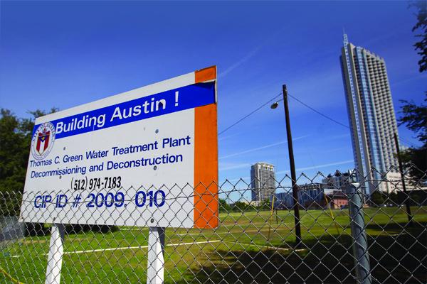 Plans for the Green Water Treatment Plant are beginning to coalesce. The site, at the corner of West Cesar Chavez and San Antonio streets, is hope to one of the city's most ambitious development projects.