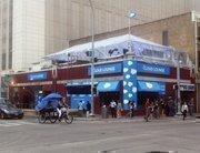Salesforce.com turned Handlebar on Fifth Street into its Cloud Lounge.