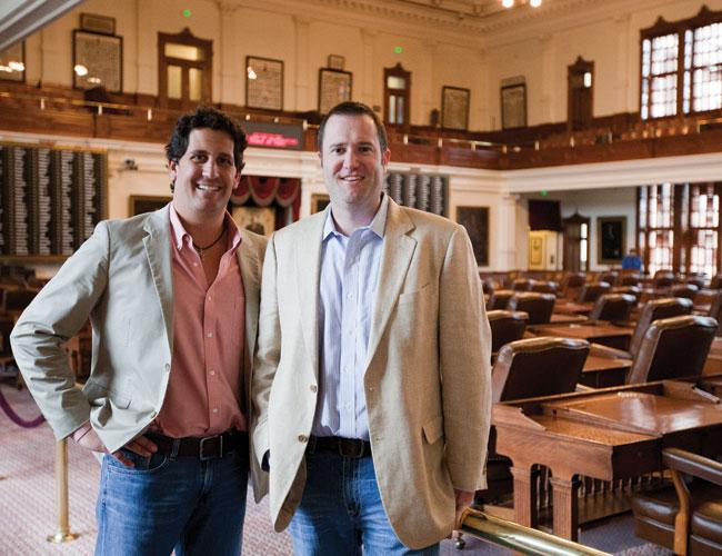 John Hay, left, and Bradley Compere have seen their fledgling law firm, Hay Compere PLLC, grow in revenue and number of offices.