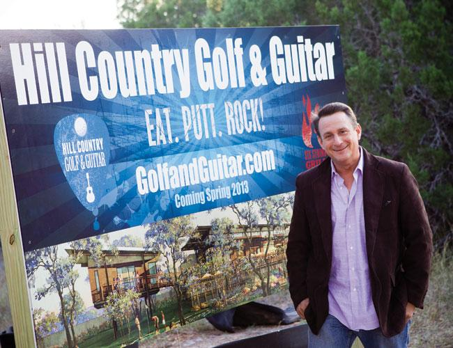Rich Phillips, a public relations executive, has assembled a team to help him develop a multimillion-dollar family entertainment and restaurant project called Hill Country Golf & Guitar and Six String Grill.