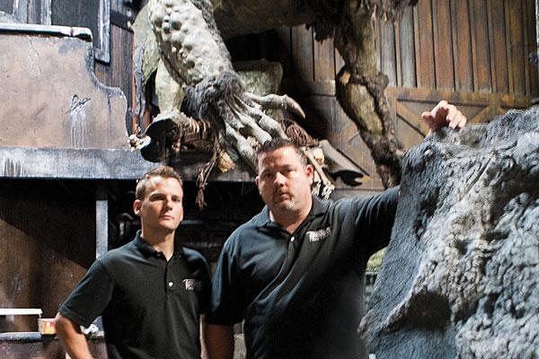 Dan McCullough, right, founder of House of Torment LLC, and his business  partner, Jon Love, are known in their industry for high-quality  productions.